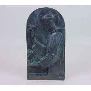 GALILEO EMENDABILI - São Francisco - Escultura em bronze - ass. na base - 33 cm alt.