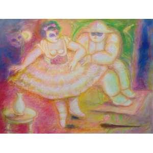 Helenos - Bailarina - OST - ass.cie - 1992 - 60x80 cm.
