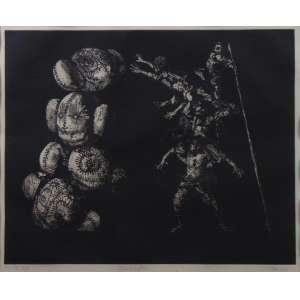 Gruber - Aparição - gravura em metal (mista) - PA - ass. cid - 36x42 cm.