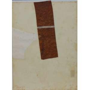 JOSE RESENDE - Sem título - Colagem - Ass. CIE - 1990 - com dedicatoria - 30 x 22 cm.