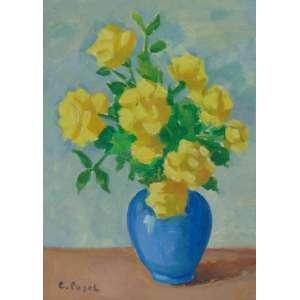 Colete Pujol - Rosas Amarelas - OSC - ass. cie - 35x25 cm - não emoldurado.