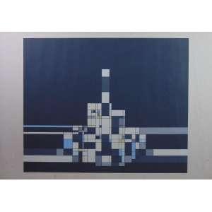 Milton Dacosta - Castelinho - serigrafia - 46/100 - ass. cid - 70x100 cm - manchas amareladas no passpatur e discretas marcas de dobras.