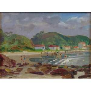 Innocêncio Borghese - Praia - OSM - ass. cie - 24,5 x 33,5 cm.