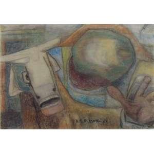 Rizzotti - Boi - Aquarela sobre papel - ass. centro inferior - 20 x 29 cm.