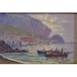 Angelo Canone - Marinha com Pescadores - OSE - ass. cid - 20x30 cm
