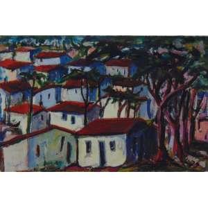 Odilon Nogueira - Casario - OSC - ass. cid - 1979 - 17x26 cm - não emoldurado.