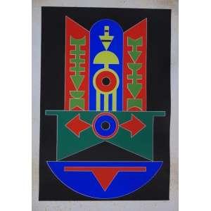 Rubem Valentim - S/T - serigrafia - 17/120 - ass. cid - 1989 - 100x70 cm - não emoldurada - manchas amareladas no paspatur e na área impressa.