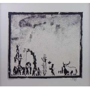 GRUBER - Festas Populares - Gravura - nº 50/100 - CID - dat 1981 - 65 x 59 cm
