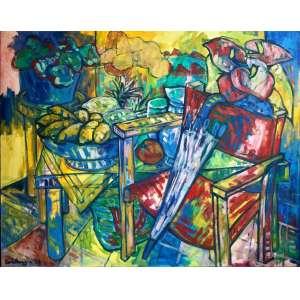 Ana Goldberger - Nem Chuva Estraga - OST - ass. verso - 1993 - 80x100 cm.
