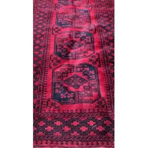 Passadeira do Afeganistão, Buhara, manufatura manual, 4,30m x 1,05m (no estado).