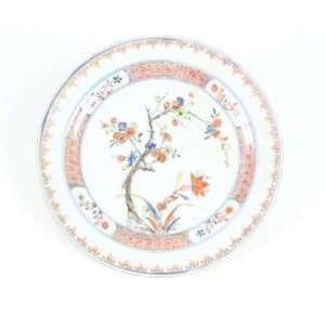 Prato de porcelana esmaltada, decoração China/ Imari, 22cm de diâmetro, China, século XVIII/XIX.