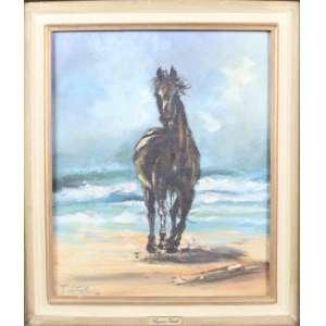 REGINA VITALE, cavalo, óleo sobre tela, C/I/E, 1989, 46cm x 38cm.