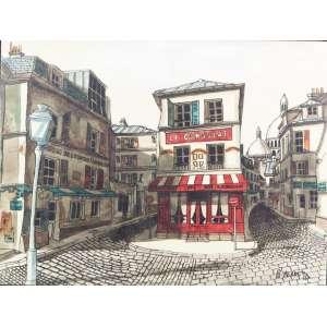 B. ASRET, Paris, óleo sobre tela, 46cm x 62cm, C/I/D, 1973.