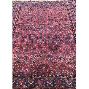 Tapete iraniano, Hamadan, manufatura manual, 2,15m x 1,55m (no estado).