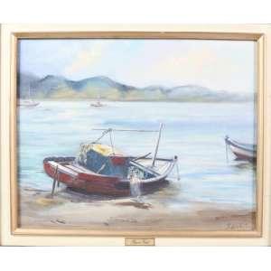 REGINA VITALE, marinha, óleo sobre tela, C/I/D, 40cm x 50cm.