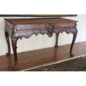 Elegante aparador com gavetas na parte posterior, estilo georgiano, 78cm x 1,30m x 67cm, Inglaterra, século XIX.(no estado)