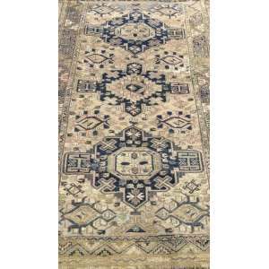 Tapete iraniano, Sumak, manufatura manual, 1,85m x 1,15m (no estado).