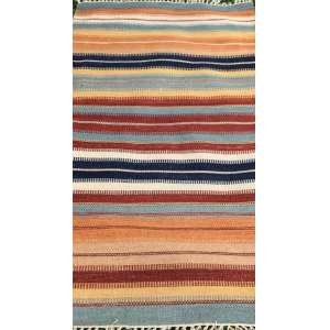 Tapete indiano, Kilim, manufatura manual, 1,50m x 90cm (no estado).
