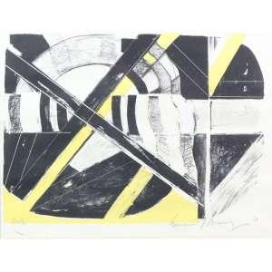 EMANOEL ARAÚJO, composição geométrica, litografia, C/I/D, P/A, 30cm x 40cm.
