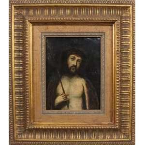Ecce Homo - Escola Cusquenha - Séc. XIX - OST - 17,5 x 13 cm.