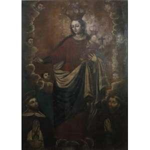 Nossa Senhora do Rosário - Escola Cusquenha - Final do Séc. XVII - 210 x 144 cm.