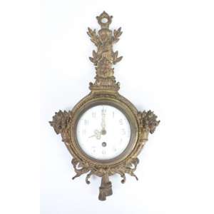 Relógio de fino bronze cinzelado estilo e época Napoleão III, mostrador em esmalte . França Séc. XIX - 45 x 26 cm (no estado)