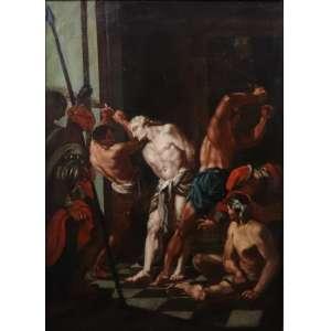 Anônimo - Cena Religiosa - OST - 54 x 39 cm. Itália Sec XVIIIXIX.
