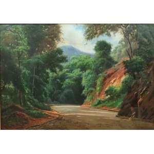 EDGAR WALTER - Paisagem , O/S/T, C/I/E Dat e localizado Rio 1959 - 63 x 91 cm.