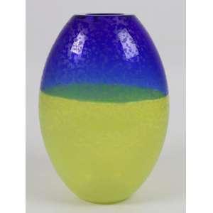 BARBINI ALFREDO - vaso de vidro Double de Murano , assinado - 28 cm alt.