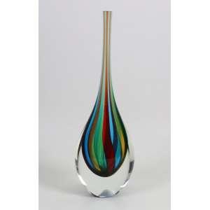 Vaso em vidro artístico de Murano assinado Seguso - 44 cm alt.Italia Sec XX