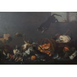 PAUL DE VOS - DAPRES - Cats Fighting in a Larder 1630 - 1640 - OST -EuropaS Séc XIX - 83 x 122 cm.