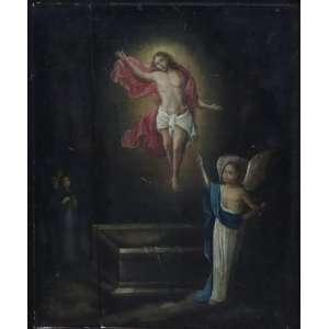 Cena Religiosa -OSM - 51 x 41 cm. (madeira com trincado). Escola Belga do Sec XVII