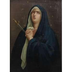 Anônimo - Nossa Senhora das Dores , O/S/T, Europa Sec XVIIIXIX. 75 x 55 cm.