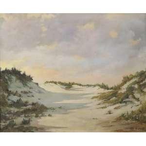 GEORGE WAMBACH - Cena na praia - OST - CID - 59 x 72 cm.