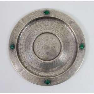 Salva de prata de lei teor 833. Brasil Sec XX. - 25 cm diâm