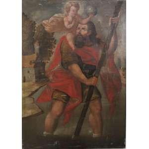 Escola Cusquenha- Figura Sacra -O/S/T- Peru Sec XVIII - 140 x 100 cm (no estado)