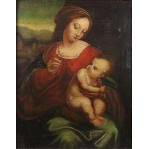 Anonimo - Maternidade - OST - 57 x 45 cm. Europa Séc. XVIIXIX