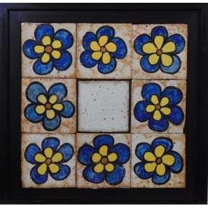 FRANCISCO BRENNAND - Flores- cerâmica policromada - 36x36 cm.