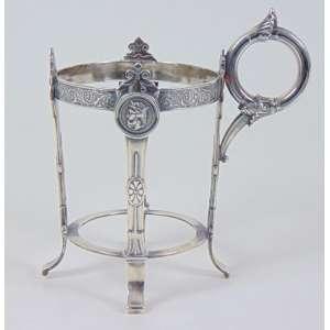 Suporte para copo em prata Gorhan - USA - dat 1879 - 14 cm alt. 9 cm diâm.