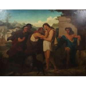 COESSIN (Atribuído) Cena Mitológica - OST - CID - 112 x 145 cm. Europa Sec XIX