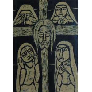 RAIMUNDO DE OLIVEIRA – Cristo, Nanquim sobre papel – ass. cid - 1955 – 61 x 45 cm.