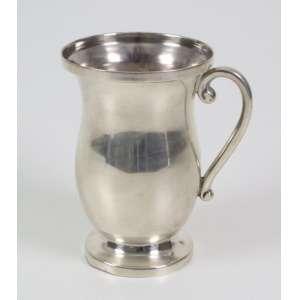 Caneca de prata de lei - Sterling México - Séc. XX - 15 cm alt.