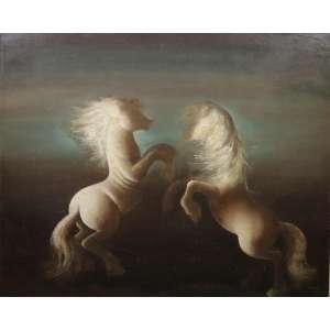 TERUZ ORLANDO - Cavalos - OST - CID - Dat. 1969 - 80 x 100 cm.