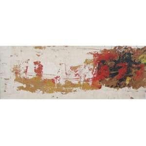 NELSON LEIRNER - Abstrato - Óleo sobre cartão colado na madeira - CID - Dec 60 assinado - 23 x 60 cm.(papel no estado)