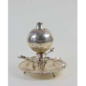 Defumador de prata de lei teor 925 - Sul americano - 20 cm de alt e 17 de diâm.