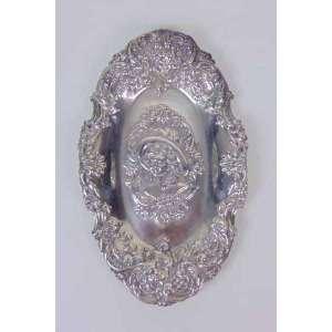 Porta alianças em prata de lei - 17 x 10 cm.