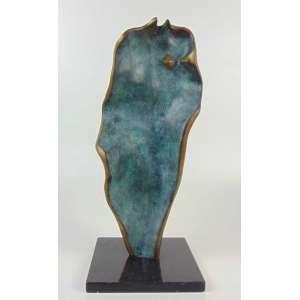 Anita Kaufmann- Escultura de bronze sobre base de mármore - 44 cm de alt.