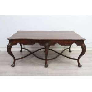 Mesa de centro em madeira - 51cm alt, 126 cm comp, 68 cm prof.