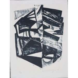 Emanoel Araújo - S/T - litografia - 77/80 - ass. cid - 1971 - 46x35 cm - não emoldurada.