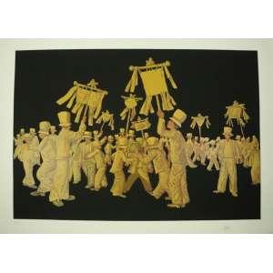 Mário Gruber - Fantasiados - serigrafia - 78/100 - ass. cid - 72x100 cm - não emoldurada.